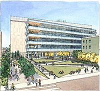 Architectural rendering of new Helios building