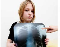 Child with x-ray