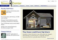 NewsCenter home page