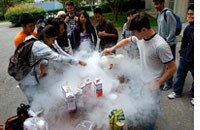 Summer camp science experiment