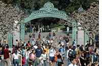 Students at Sather Gate