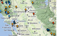 California Language Archive map with links