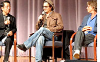 Johnny Depp with Ben Fong Torres and Bruce Robinson