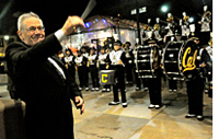 Walter Hewlett leading the Cal Band