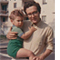 Michael Eisen with his father