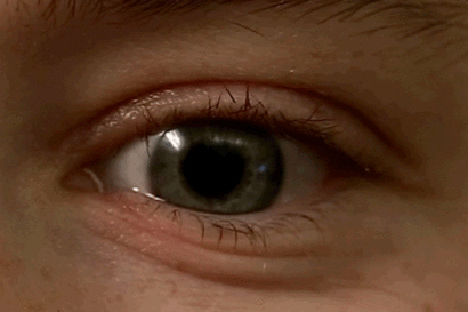 Closeup of eye reading