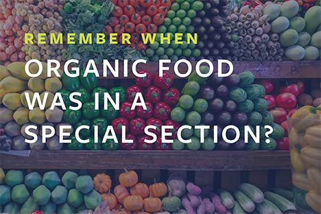 Remember when organic food was in a special section?