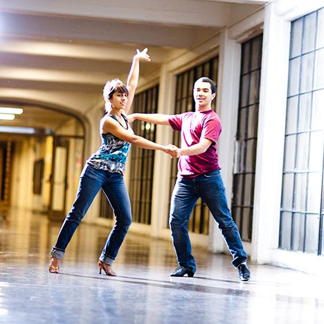 Students tango. Photo by Elena Zhukova.
