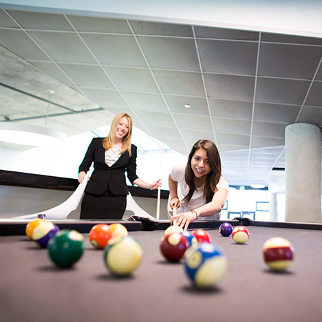 Billiards game. Photo by Elena Zhukova.