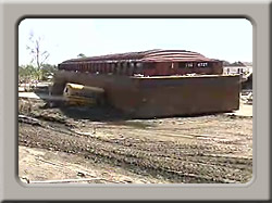 Beached barge from video clip