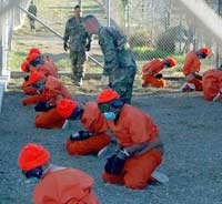 orange jumpsuited detainees