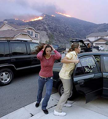 evacuating homes in a firezone