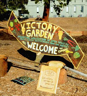 Victory Garden sign