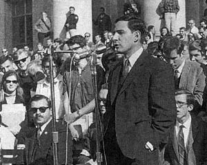 John Searle addressing a Free Speech Movement rally