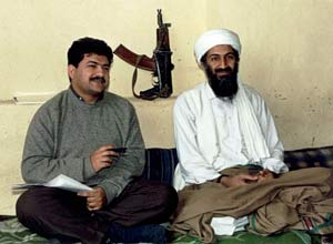 Hamid Mir with Osama bin Laden
