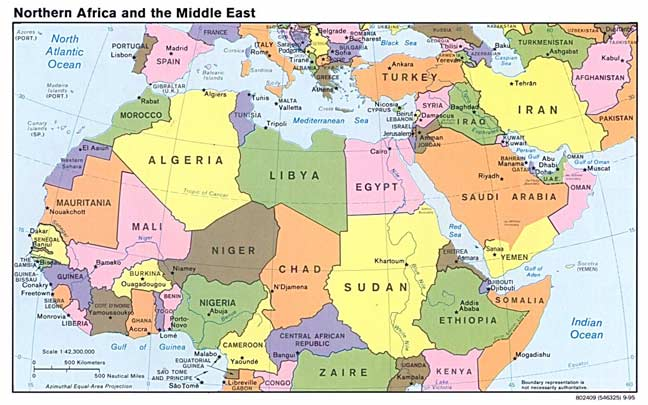 Map Of The Middle East - Map of me