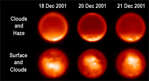 Methane gas cloud on Titan