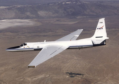 One of NASA's ER-2 high altitude research aircraft