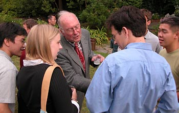 Charles Townes meets new students
