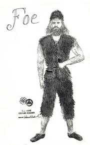 The ape-skin costume for Crusoe