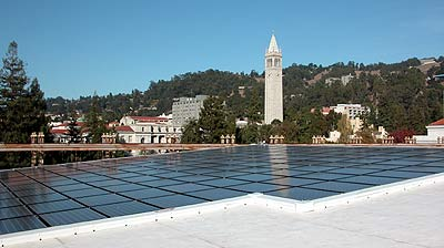 solar panels and Campanile