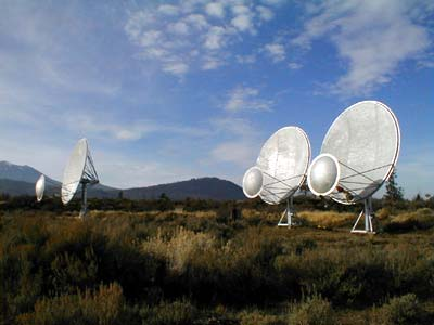Three prototype radio dishes