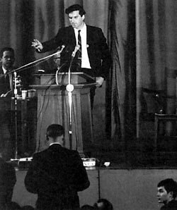 Reginald Zelnik addresses a 1966 Vietnam War debate