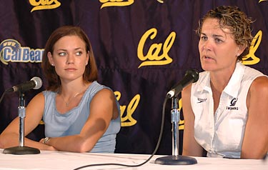 Natalie Coughlin and Teri McKeever