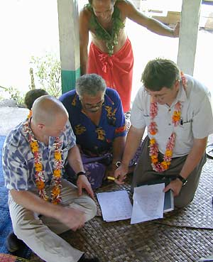 Jay Keasling with Samoan leaders