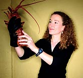 Sheila Patek with lobster