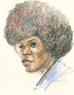 Angela Davis, by Rosalie Ritz