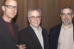 UC Berkeley engineering professor Ken Goldberg with PowerPoint creators Bob Gaskins and Dennis Austin.