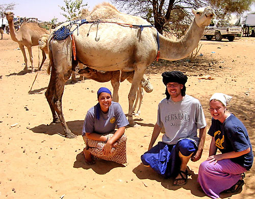 Adriana Publico, Luke Filose, and Annika Dubrall in Mauritania