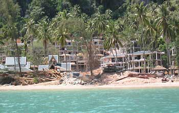 Resort under construction on Phi Phi Island