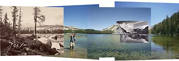 Photo collage of Lake Tenaya
