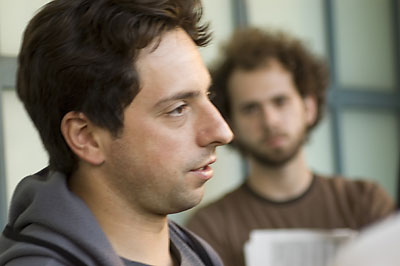 Sergey Brin and student