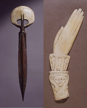 Egyptian dagger and clapper