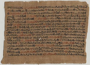 Papyrus from the reign of Hatshepsut