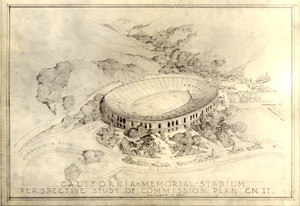 1922 sketch of Memorial Stadium