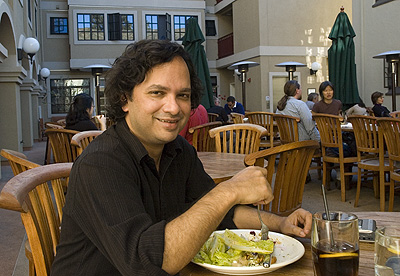 Vikram Chandra at Adagia restaurant