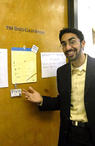 Adeel Iqbal Daily Californian editor in chief  and president
