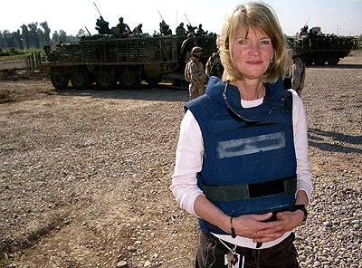 Martha Raddatz, then senior national security correspondent for ABC News, in Mossul, Iraq, last year.