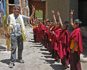 Richard Blum with nepalese youth
