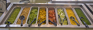 Items on salad bar