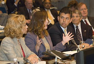 Senators Figueroa, Romero and Maldonado address the regents