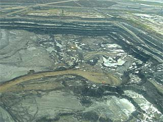 open-pit mine near Fort McMurray, Canada