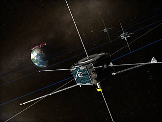 THEMIS probes gathering data