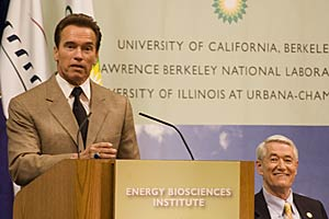 Gov. Schwarzenegger and Birgeneau