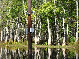 Robotic camera installed in Bayou DeView