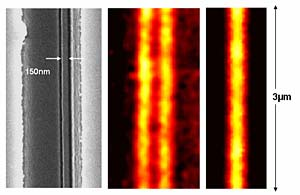 Hyperlens image of nanowire pair